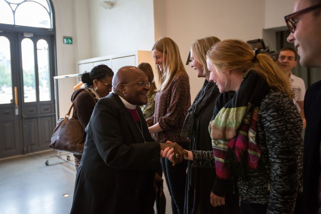 Jeg var så heldig å få en fin liten prat med Tutu da han besøkte oss nylig. Veldig stas! Foto: Johannes Granseth